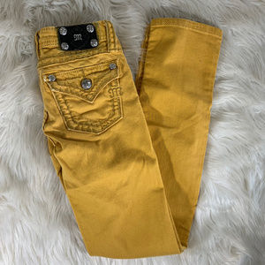 Miss Me Jeans Mustard Girls Size 12 Skinny Fit